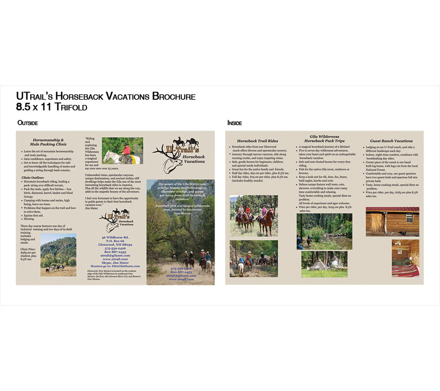 U-Trails Horseback Brochure