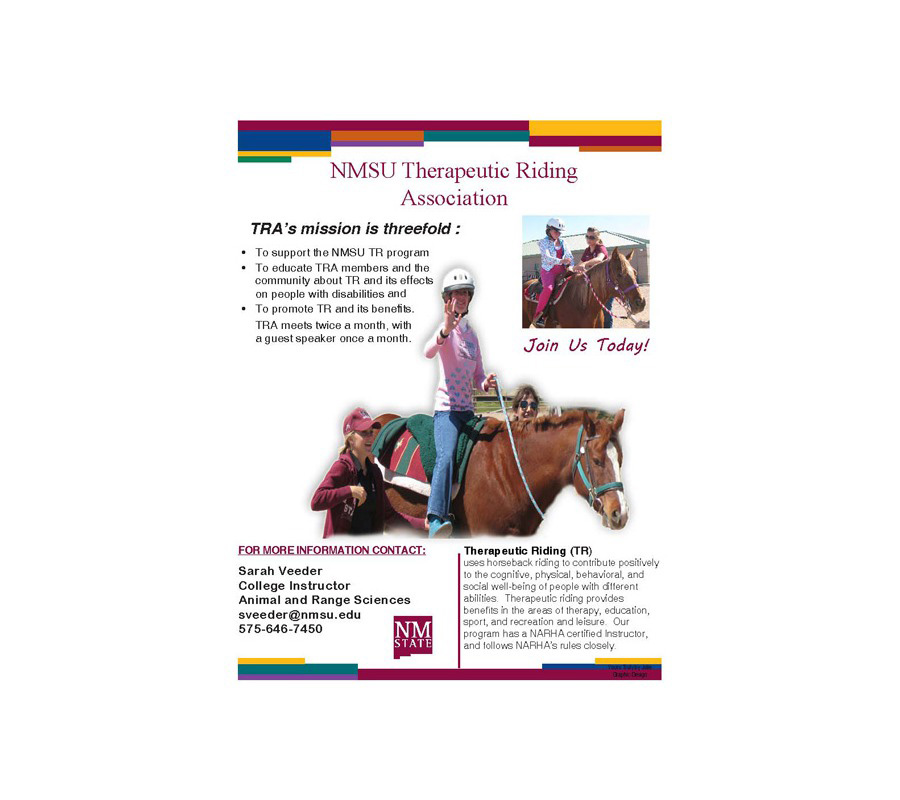 NMSU Therapeutic Riding Program Flyer