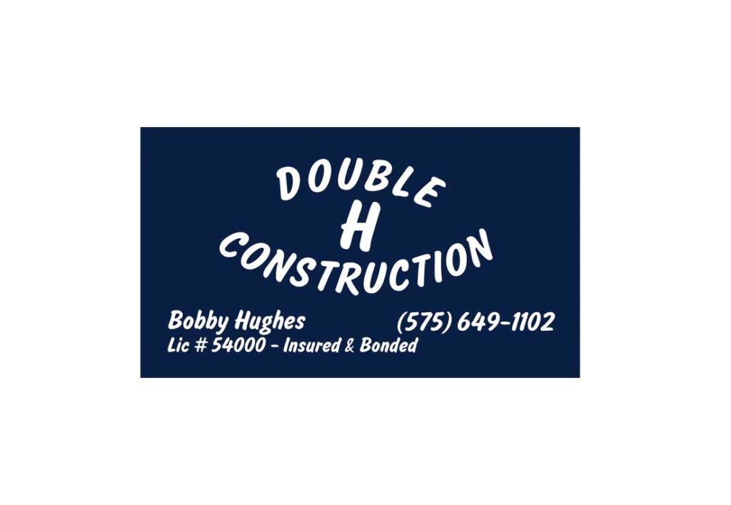 Double H Construction Business Card