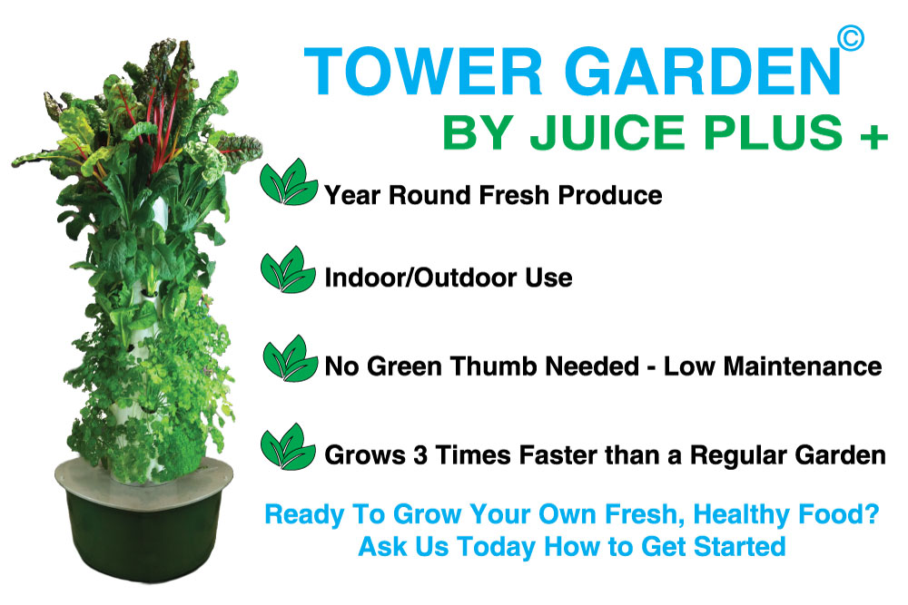 Tower Garden by Juice Plus - Wall Banner Advertisement